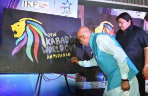 Vijay Goal unavailing Kabaddi World cup Logo