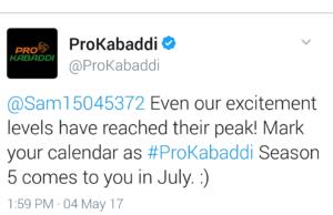 PKL season 5 will start from July 2017