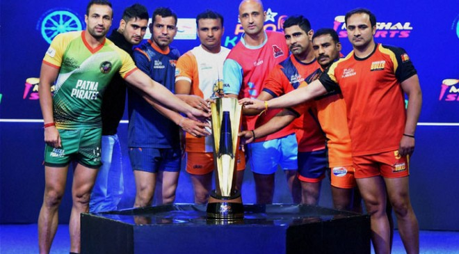 Last four season finalist team from Pro Kabaddi team