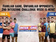 2nd Inter zonal Challenge week is starting from today in ProKabaddi 2017