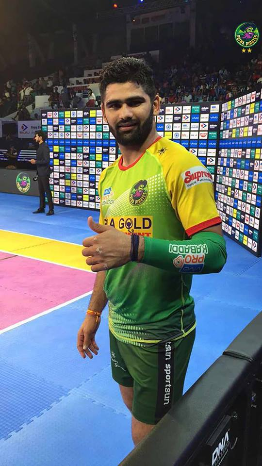 Pro kabaddi2017 Update: Pardeep Narwal creates record by taking 100 point in 8 matches