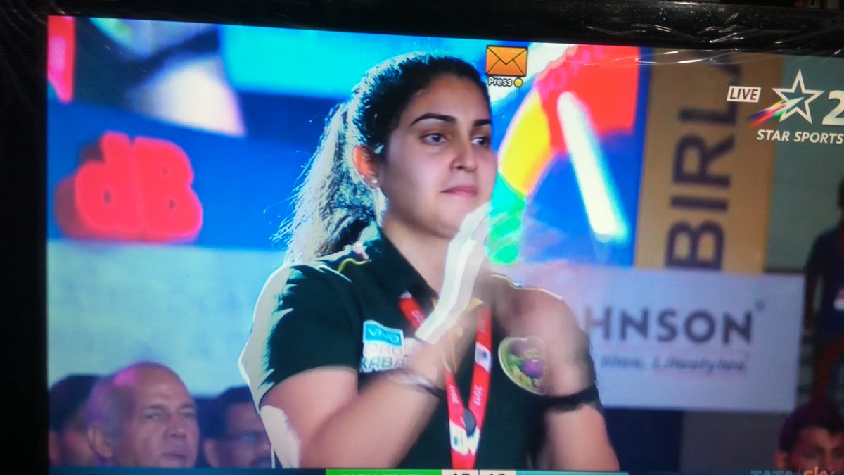 Patna Pirate Team Lady , Pardeep Narwal Wife  Oprator Sanjana Rishi