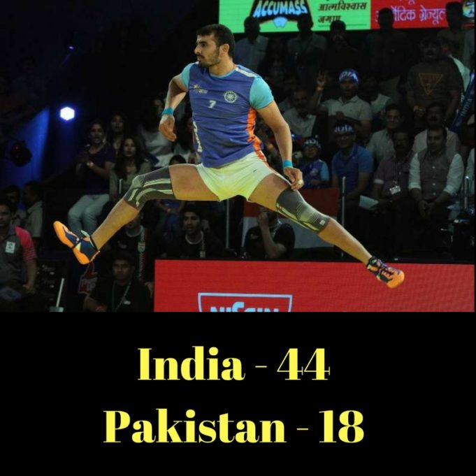 India beat Pakistan in Asia Cup Kabaddi in Iran - Ajay Thakur becomes the hero
