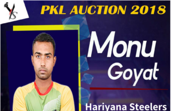 Pro Kabaddi Auction : Monu Goyat becomes the highest paid player in a Kabaddi History