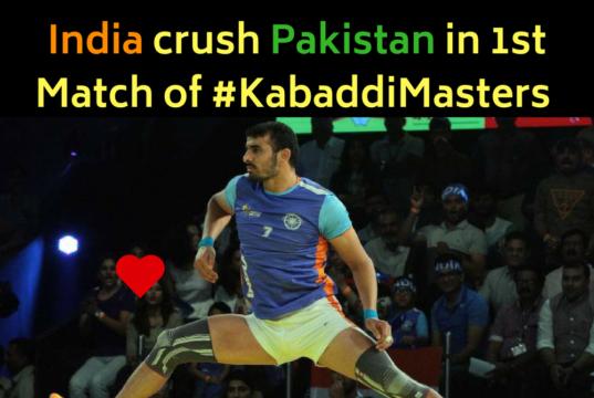 Kabaddi Masters : Dominant India crush Pakistan on 1st Match by 16 Points